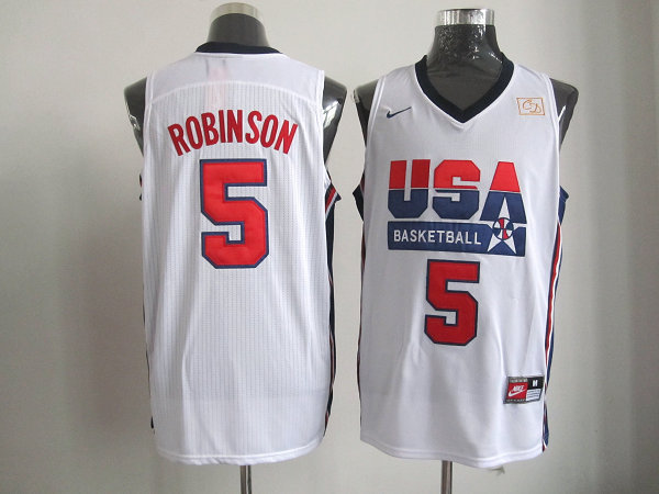 2016 NBA USA 5 Robinson White jerseys