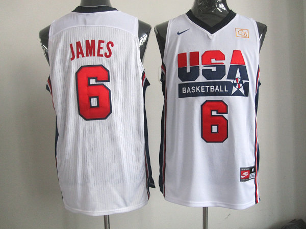 2016 NBA USA 6 Ewing white jerseys