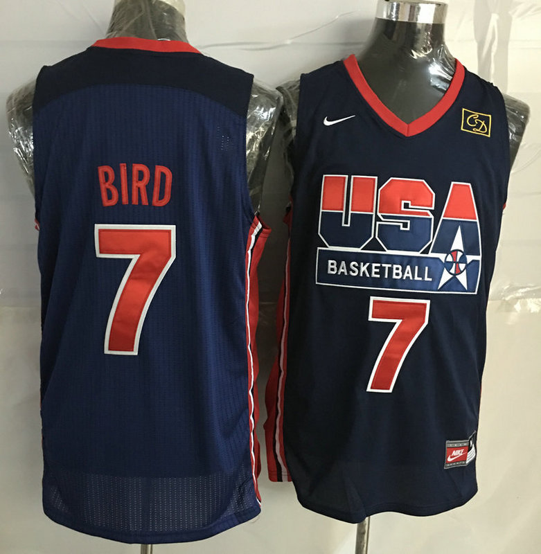 2016 NBA USA 7 Bird Blue jerseys