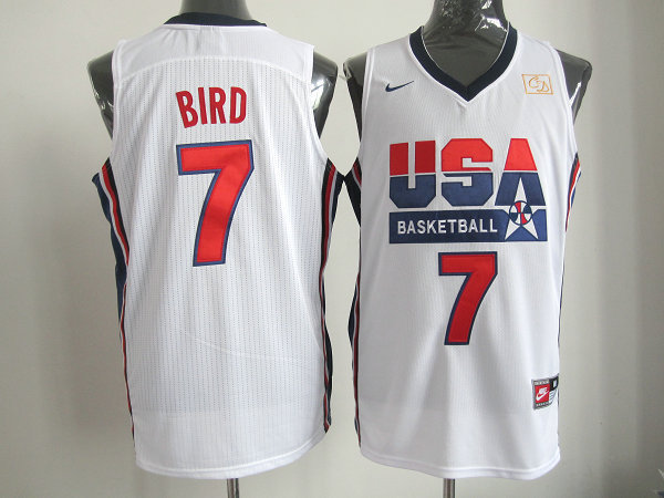 2016 NBA USA 7 Bird white jerseys