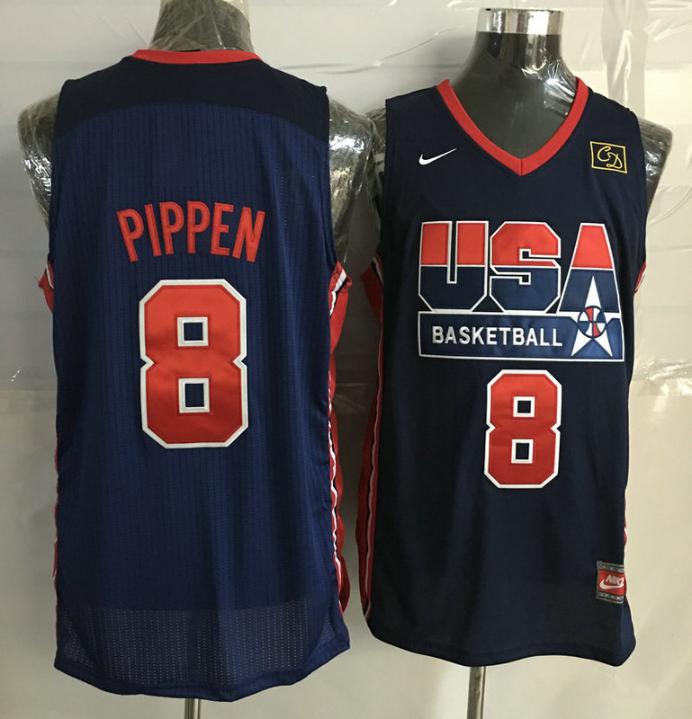 2016 NBA USA 8 Pippen Blue jerseys