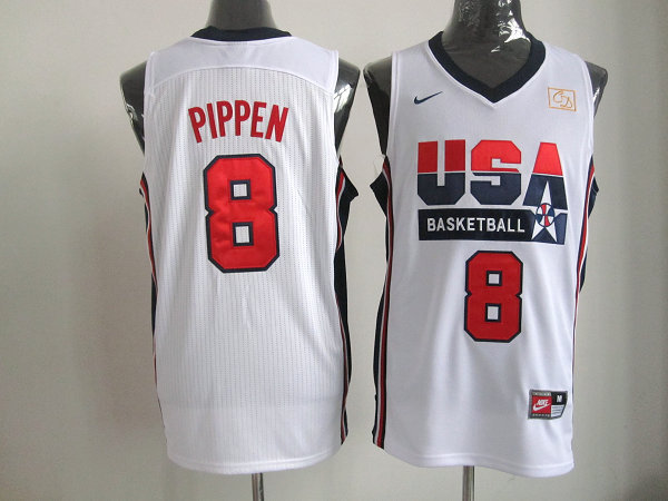 2016 NBA USA 8 Pippen white jerseys.
