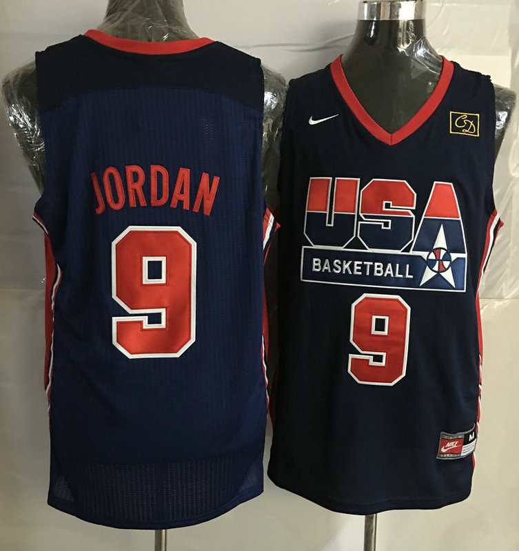 2016 NBA USA 9 Jordan Blue jerseys