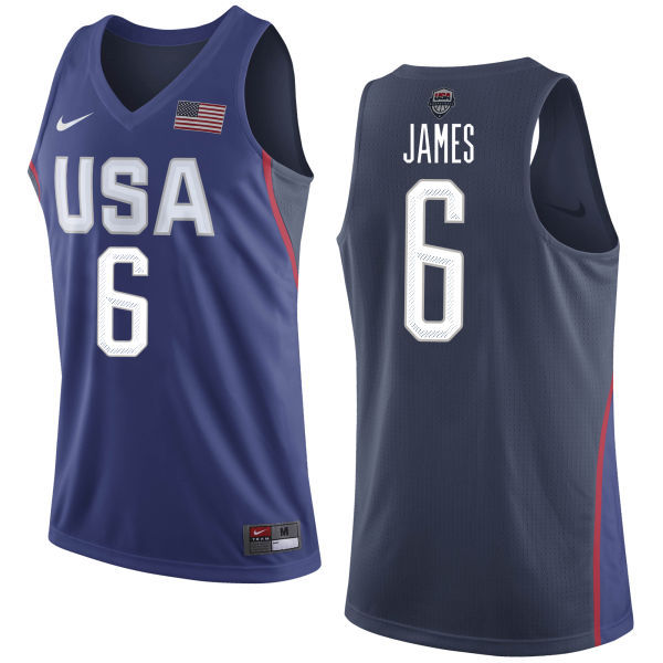2016 NBA USA Dream Twelve Team 6 James Blue Jerseys