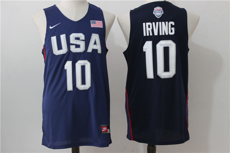 2016 NBA USA Dream Twelve Team 10 Irving Blue Jerseys