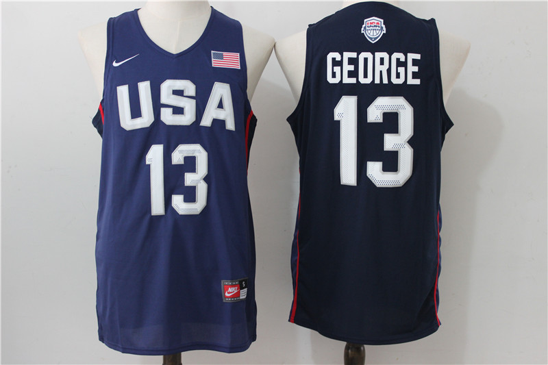 2016 NBA USA Dream Twelve Team 13 George Blue Jerseys