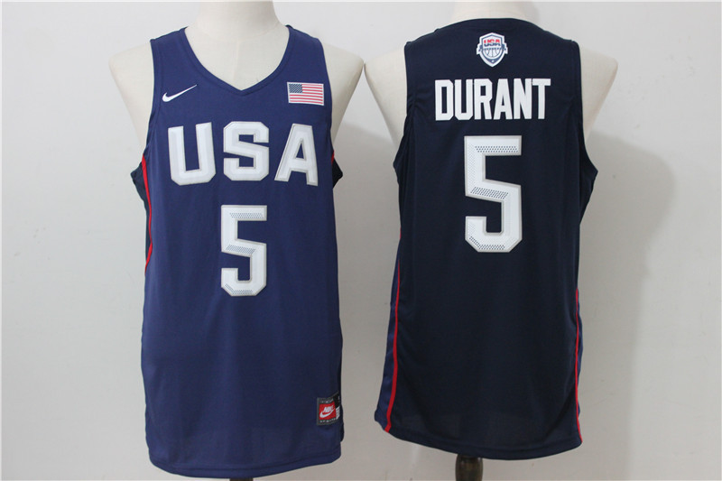 2016 NBA USA Dream Twelve Team 5 Durant Blue Jerseys