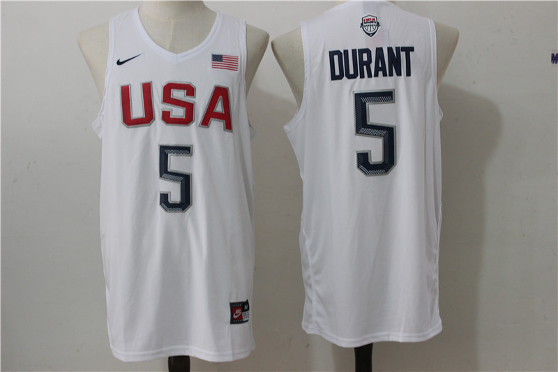 2016 NBA USA Dream Twelve Team 5 Durant white Jerseys