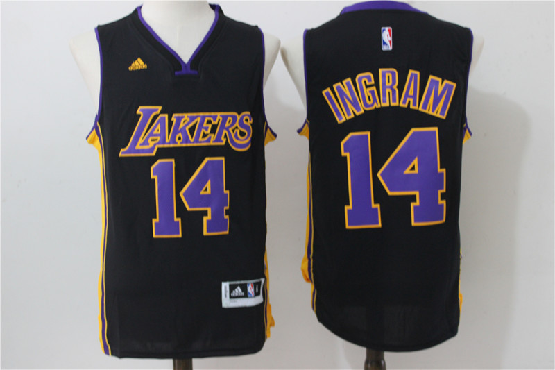 2016 NBA los angeles lakers 14 Ingram Black Jerseys