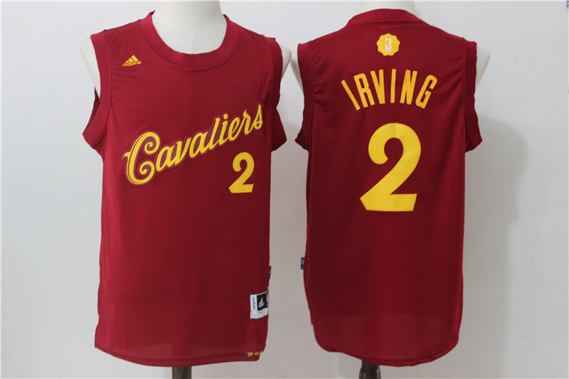 2016-2017 NBA Cleveland Cavaliers 2 Irving Red Christmas Day Swingman Jersey