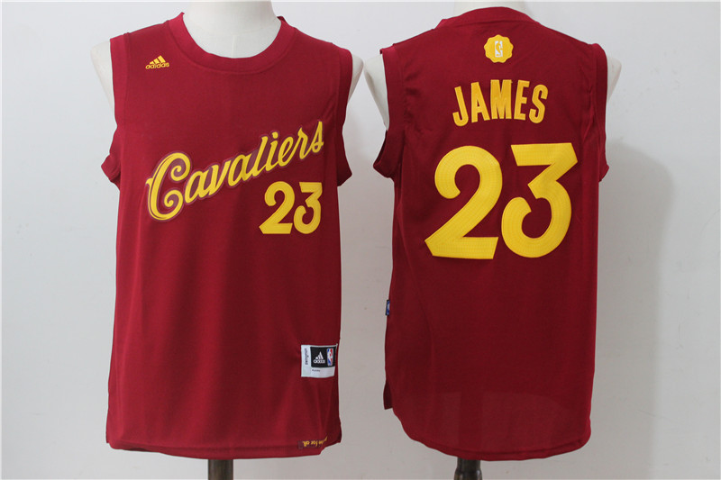 2016-2017 NBA Cleveland Cavaliers 23 James Red Christmas Day Swingman Jersey
