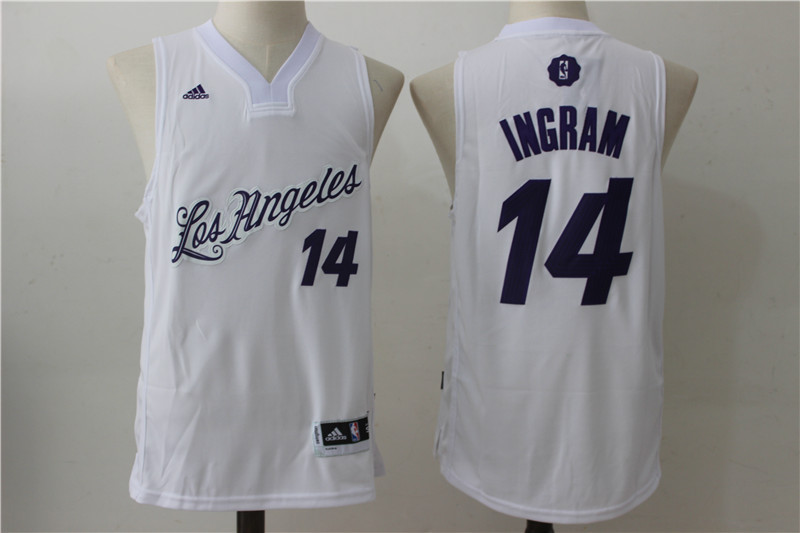 2016-2017 NBA Los Angeles Lakers 14 Ingram White Christmas Day Swingman Jersey