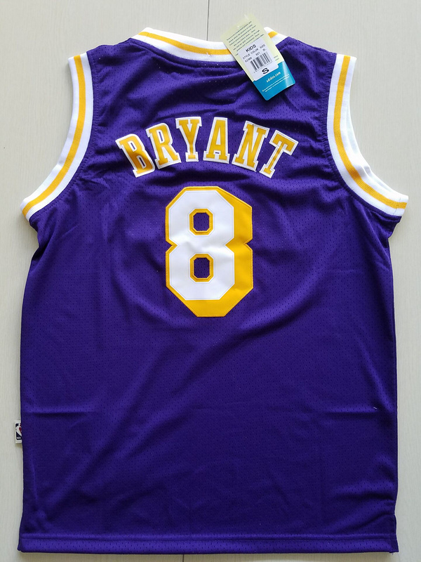 2017 Los Angeles Lakers 8 Kobe Bryant purple kids jerseys