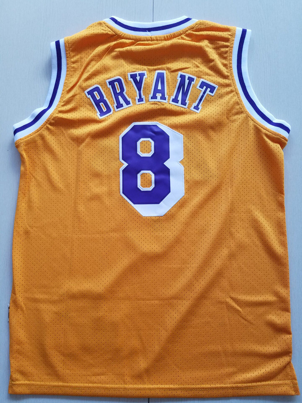 2017 Los Angeles Lakers 8 Kobe Bryant yellow kids jerseys