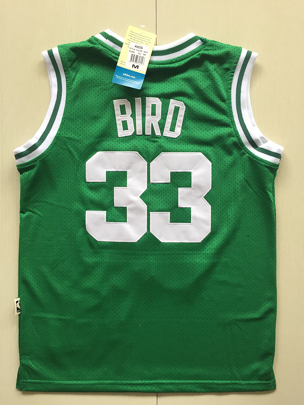 2017 NBA Boston Celtics 33 Larry Bird green kids jerseys