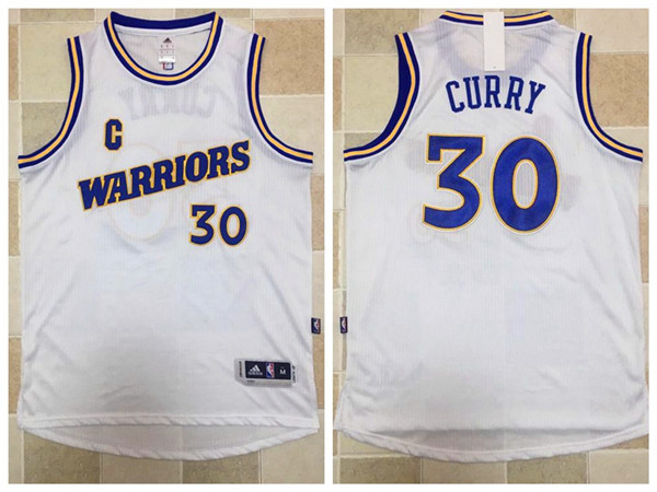 2017 NBA Golden State Warriors 30 Stephen Curry white Jerseys