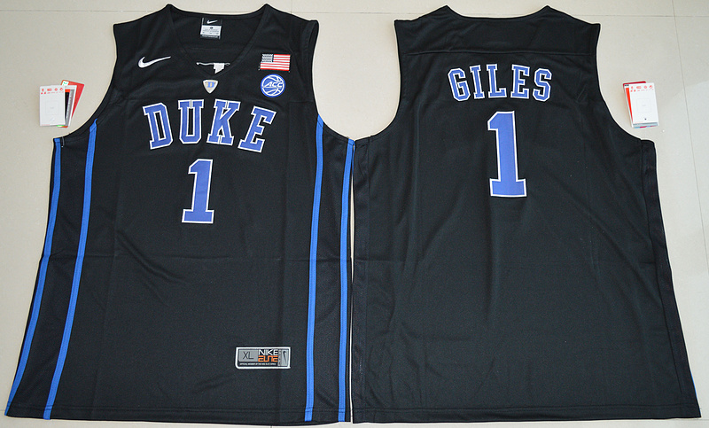 2017 NBA NCAA Duke Blue Devils 1 Harry Giles Black V Neck College Basketball Elite Jersey