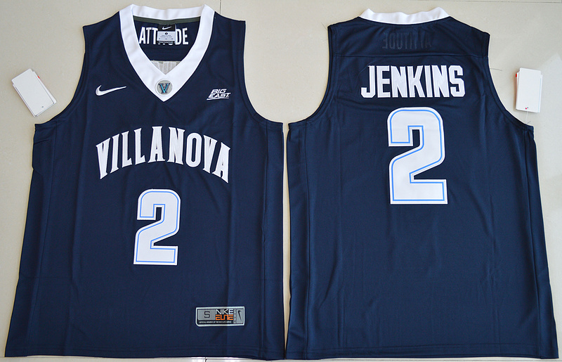2017 NBA NCAA Villanova Wildcats 2 Kris Jenkins Navy Blue College Basketball Jersey
