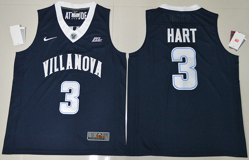 2017 NBA NCAA Villanova Wildcats 3 Josh Hart Navy Blue College Basketball Jersey