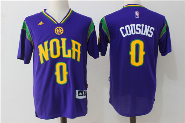 2017 NBA New Orleans Pelicans 0 DeMarcus Cousins jersey sleeve
