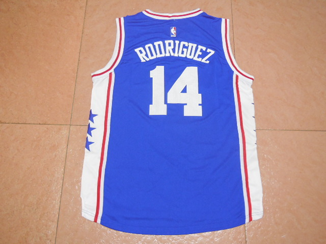 2017 NBA Philadelphia 76ers 14 Rodriguez blue jerseys