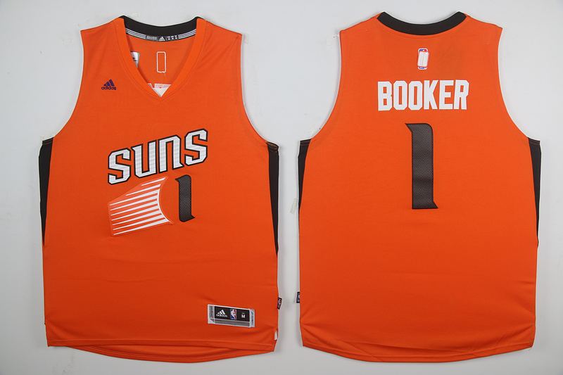2017 NBA Phoenix Suns 1 Devin Booker Orange Jerseys