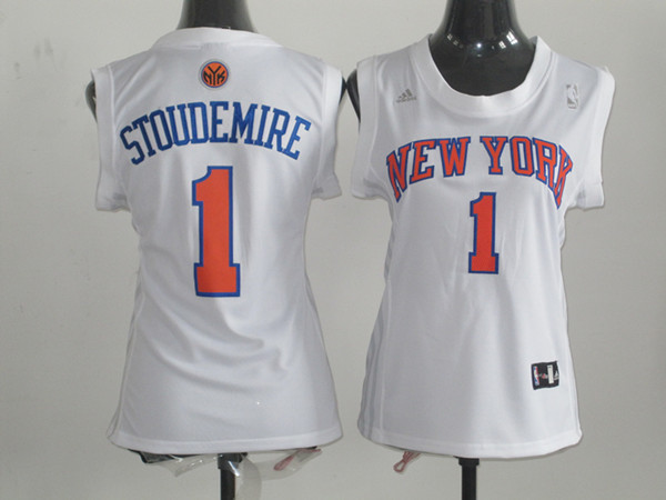 2017 Women NBA New York Knicks 1 Stoudemire white jerseys