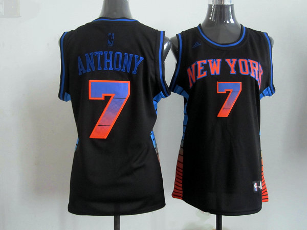 2017 Women NBA New York Knicks 7 Anthony black jerseys