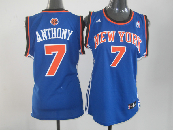 2017 Women NBA New York Knicks 7 Anthony blue jerseys