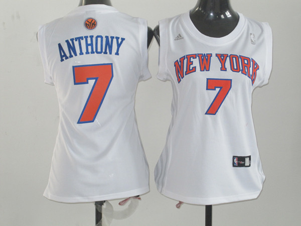 2017 Women NBA New York Knicks 7 Anthony white jerseys
