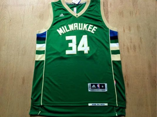 NBA Milwaukee Bucks 34 Antetokounmpo Green 2015 Jerseys