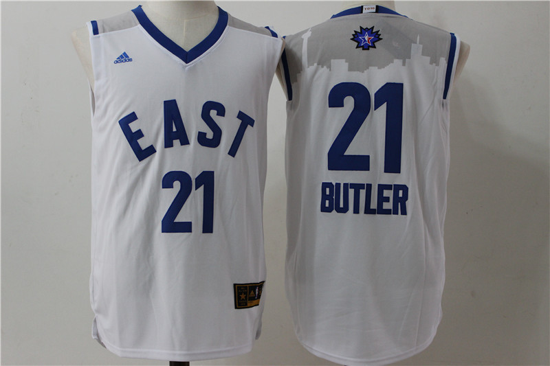 Chicago Bulls 21 Butler white 2016 NBA All Star jerseys