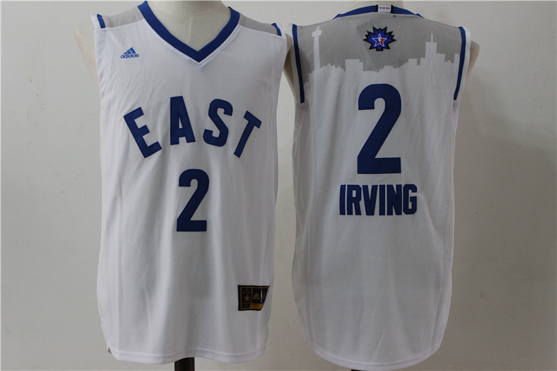 Cleveland Cavaliers 2 Irving white 2016 NBA All Star jerseys
