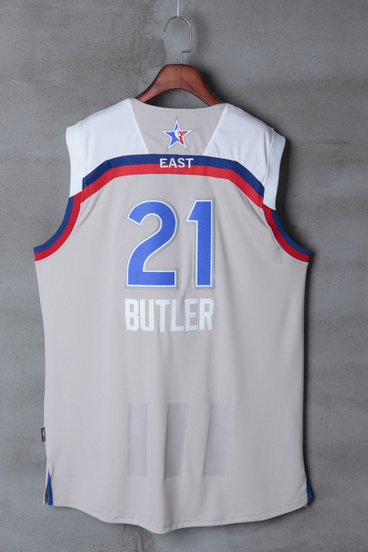 Men Chicago Bulls 21 Butler grey 2017 NBA All Star jerseys