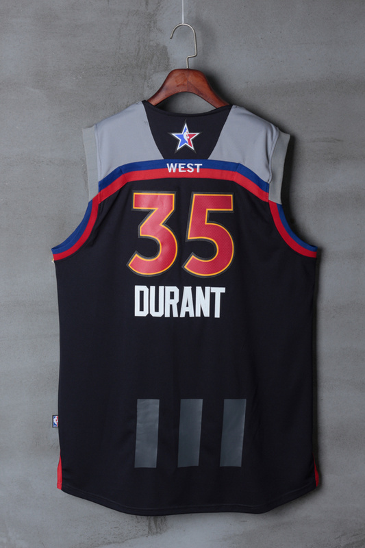Men Golden State Warriors 35 Durant black 2017 NBA All Star jerseys