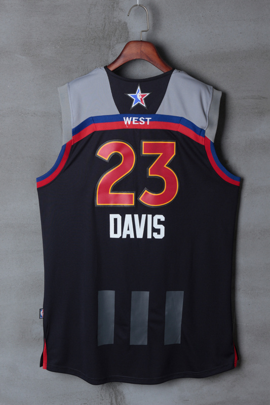 Men New Orleans Pelicans 23 Davis black 2017 NBA All Star jerseys