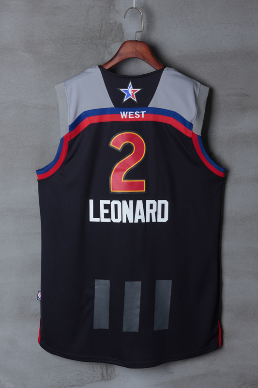 Men San Antonio Spurs 2 Leonard black 2017 NBA All Star jerseys