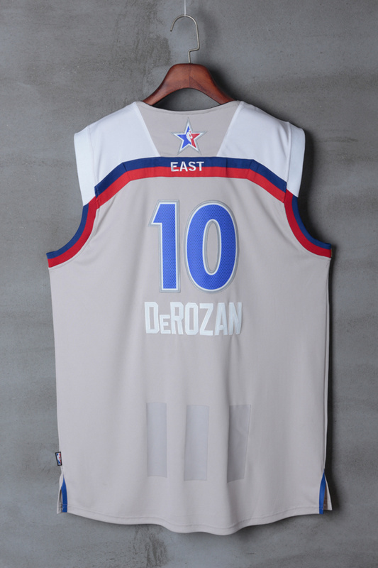 Men Toronto Raptors 10 Derozan grey 2017 NBA All Star jerseys