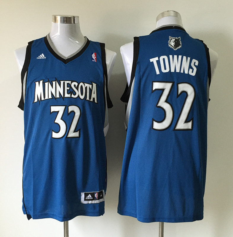 Men's Minnesota Timberwolves 32 Karl-Anthony Towns blue jerseys