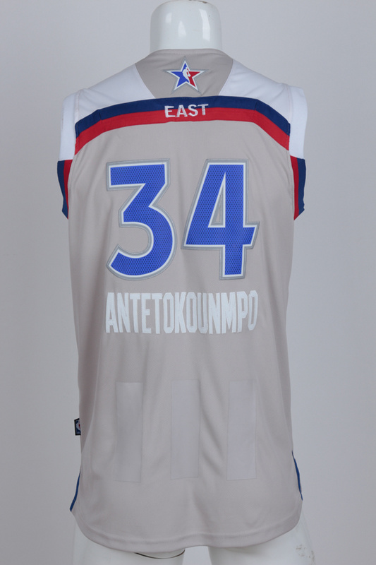 Milwaukee Bucks 34 Antetokounmpo grey 2017 NBA All Star jerseys