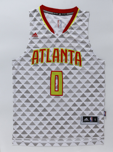 NBA Atlanta Hawks 0 Teague White 2015 Jerseys