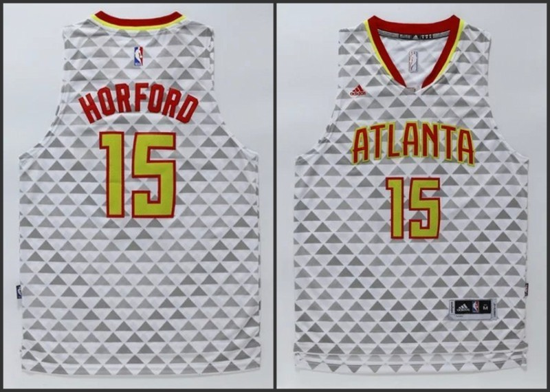 NBA Atlanta Hawks 15 Al Horford White 2015 Jerseys