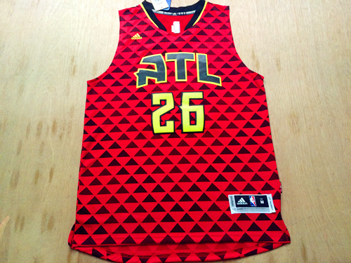 NBA Atlanta Hawks 26 Kyle Korver red 2016 Jerseys
