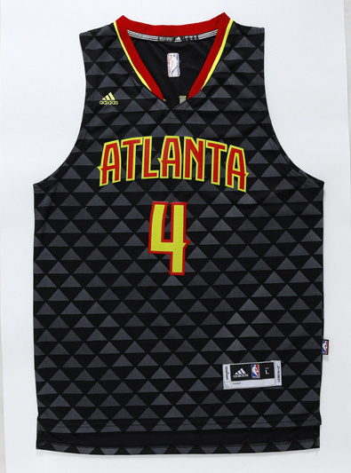 NBA Atlanta Hawks 4 Paul Millsap black 2016 Jerseys