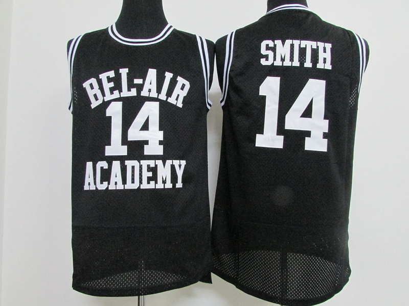 NBA BEL-AIR Academy 14 Will Smith Black 2015 Jerseys