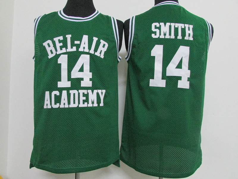 NBA BEL-AIR Academy 14 Will Smith Green 2015 Jerseys