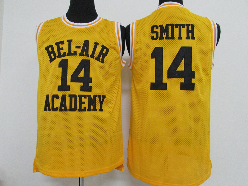 NBA BEL-AIR Academy 14 Will Smith yellow 2015 Jerseys