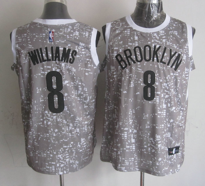 NBA Brooklyn Nets 8 Williams Grey National Flag Star Jersey