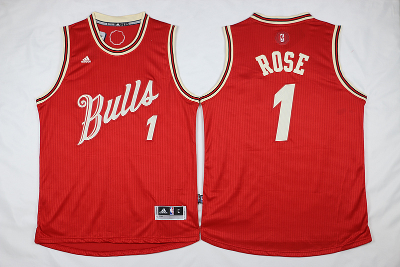 NBA Chicago Bulls 1 Derrick Rose Red 2015 Christmas Day Swingman Jersey