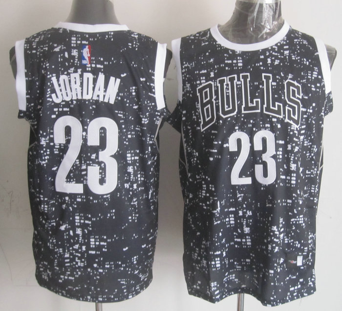 NBA Chicago Bulls 23 Jordan Black National Flag Star Jersey